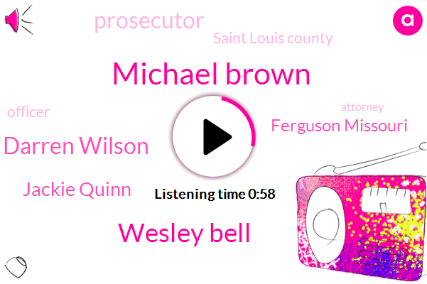 Ferguson Missouri,Michael Brown,Prosecutor,Saint Louis County,Wesley Bell,Officer,Darren Wilson,Jackie Quinn,Attorney
