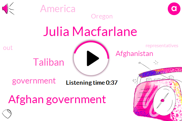 Afghan Government,Taliban,Government,Julia Macfarlane,Afghanistan,ABC,Oregon,America