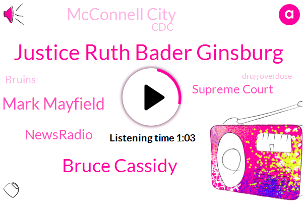 Supreme Court,Justice Ruth Bader Ginsburg,Drug Overdose,Bruce Cassidy,Mcconnell City,Mark Mayfield,Newsradio,NBC,CDC,Bruins
