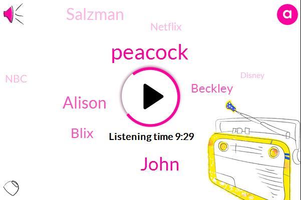 Peacock,Netflix,NBC,Disney,Peacock Ben,John,Alison,Peacock Library,Hulu,Blix,Beckley,Salzman,Google,Media Analyst,Olympics,Amazon