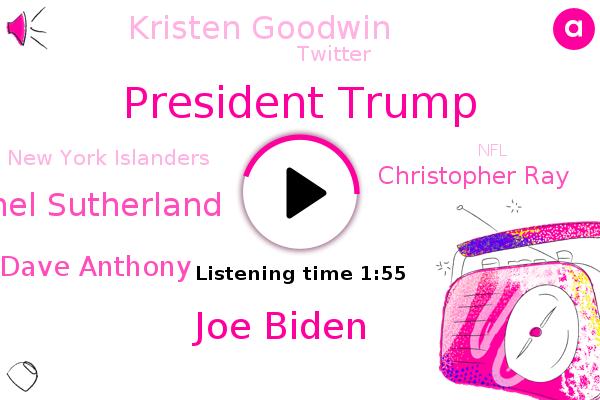 President Trump,Joe Biden,Twitter,Director,Russia,Iran,Rachel Sutherland,Dave Anthony,Tampa Bay,Christopher Ray,New York Islanders,Kristen Goodwin,Cleveland,NFL,FBI,Fox News,Dallas