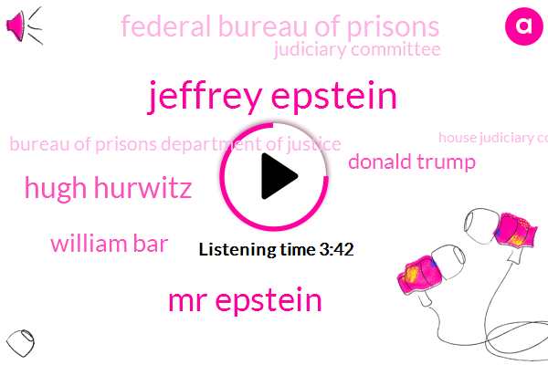 Jeffrey Epstein,Federal Bureau Of Prisons,Judiciary Committee,Mr Epstein,Coordinator,Hugh Hurwitz,Bureau Of Prisons Department Of Justice,House Judiciary Committee,White House,William Bar,New York,Donald Trump,Attorney,Department Of Education,Executive,President Trump,Official