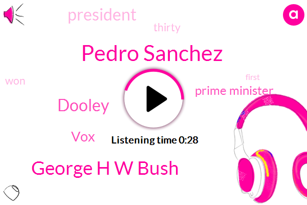 Pedro Sanchez,Prime Minister,George H W Bush,VOX,President Trump,Dooley,Thirty Six Years