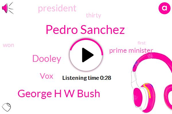 Pedro Sanchez,Prime Minister,George H W Bush,VOX,President Trump,Dooley,Thirty Six Years