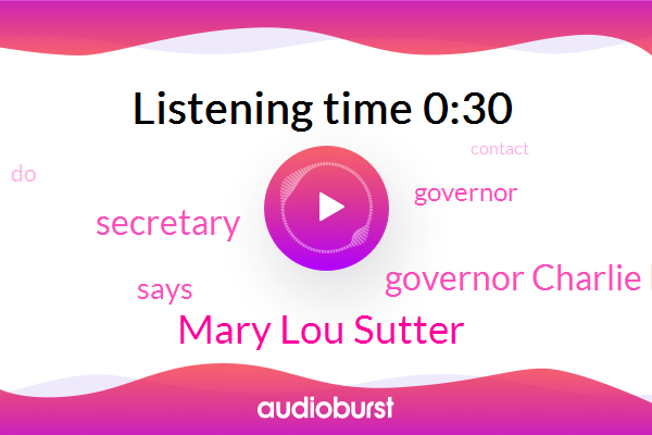 Mary Lou Sutter,Governor Charlie Baker,Secretary