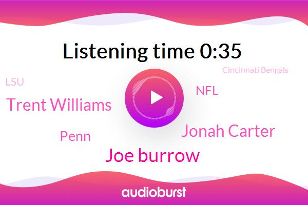 Jonathan Warner,Joe Burrow,Cincinnati Bengals,Cincinnati,Jonah Carter,NFL,LSU,Ohio,Penn