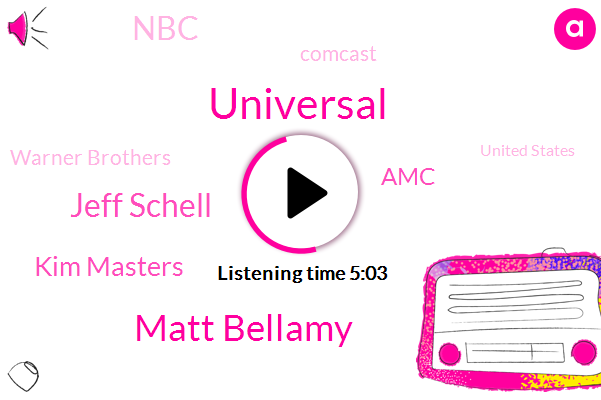 Universal,Matt Bellamy,Jeff Schell,AMC,Hollywood,NBC,Kim Masters,Comcast,United States,Warner Brothers,Editorial Director,Reporter