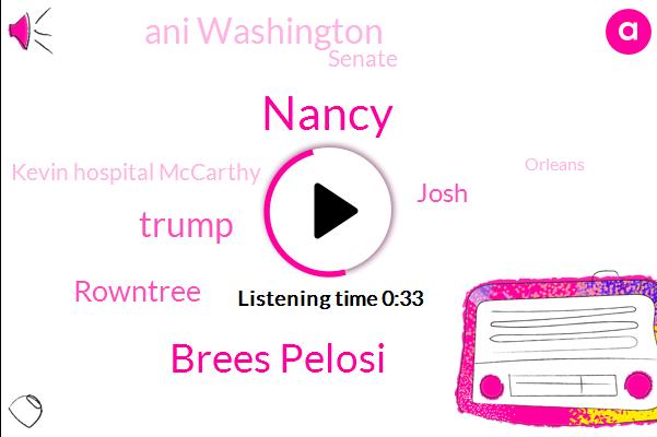 Nancy,Brees Pelosi,Senate,Orleans,Gulf,President Trump,Donald Trump,Rowntree,Louisiana,Kevin Hospital Mccarthy,Josh,Ani Washington
