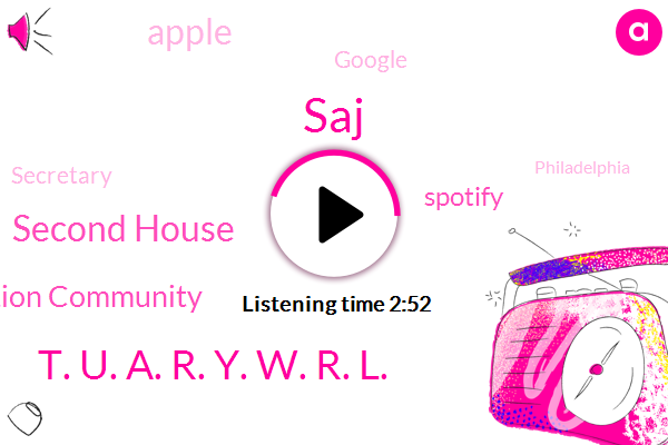 Philadelphia,SAJ,Second House,Secretary,Social Connection Community,Spotify,Apple,Reporter,Google,T. U. A. R. Y. W. R. L.