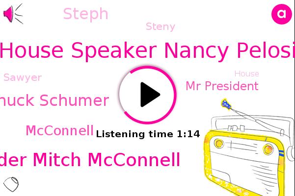 House Speaker Nancy Pelosi,Senate Of Democratic,Majority Leader Mitch Mcconnell,Senate,Chuck Schumer,White House,Mcconnell,Mr President,GOP,Steph,Treasury,United States,Steny,Democrats,House,Sawyer