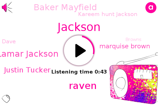 Lamar Jackson,Justin Tucker,Marquise Brown,Browns,Raven,Baker Mayfield,Kareem Hunt Jackson,Jackson,Ravens,AFC,Steelers,Dave