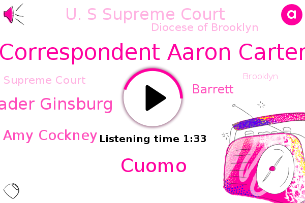 U. S Supreme Court,Correspondent Aaron Carter,Brooklyn,Diocese Of Brooklyn,New York,Supreme Court,Cuomo,Justice Ruth Bader Ginsburg,Amy Cockney,Barrett