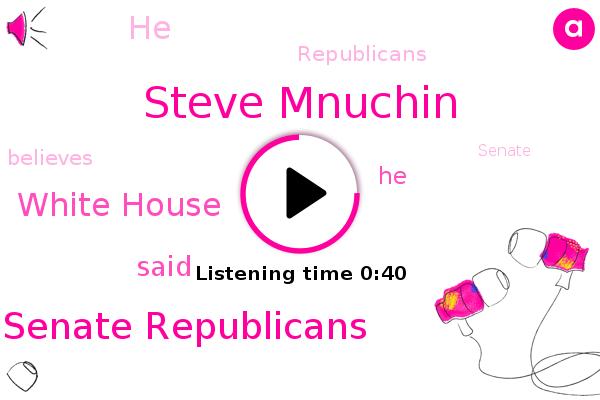 Senate Republicans,Steve Mnuchin,White House