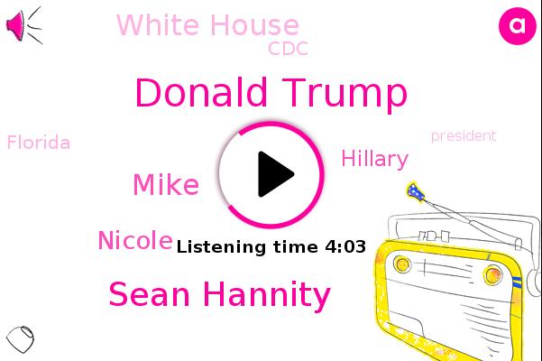 Donald Trump,Sean Hannity,White House,President Trump,CDC,Mike,Florida,Nicole,Fox News,Hillary,Gobert