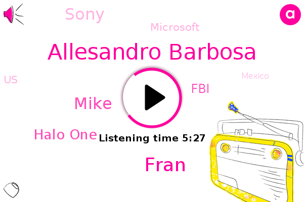 Halo One,United States,FBI,Allesandro Barbosa,Coastal Lake,Mexico,Fran,Mike,Sony,Microsoft