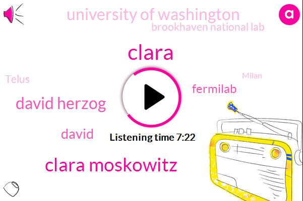 Clara Moskowitz,David Herzog,Fermilab,University Of Washington,Brookhaven National Lab,Telus,Milan,Iran,Tennis,David,Clara