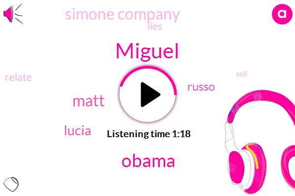 Simone Company,Miguel,Barack Obama,Matt,Lucia,Russo