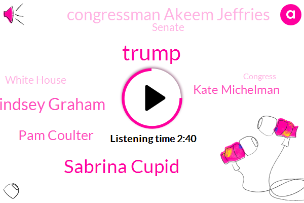 Sabrina Cupid,Atlanta,Chicago,Lindsey Graham,Washington,CBS,White House,Pam Coulter,Houston,Senate,China,Kate Michelman,America,Donald Trump,Congress,Congressman Akeem Jeffries,President Trump