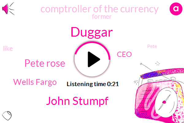 Duggar,CEO,Wells Fargo,John Stumpf,Pete Rose,Comptroller Of The Currency