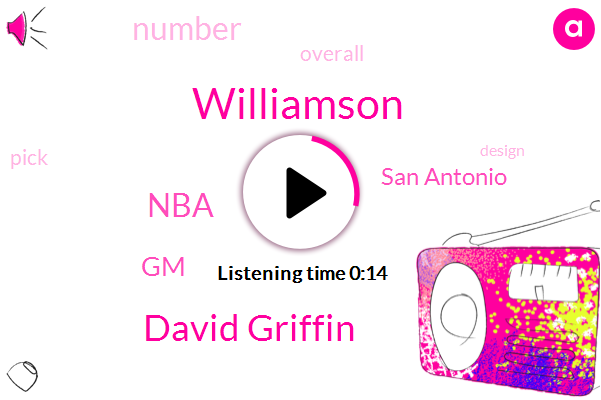 Williamson,David Griffin,NBA,San Antonio,GM