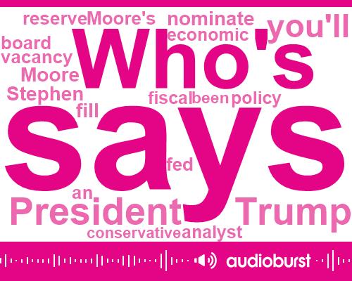 Stephen Moore,Nebraska,Jerome Powell,Pete Ricketts,President Trump,Policy Analyst,Merican,Fox News,Berry,USA,Three Billion Dollars