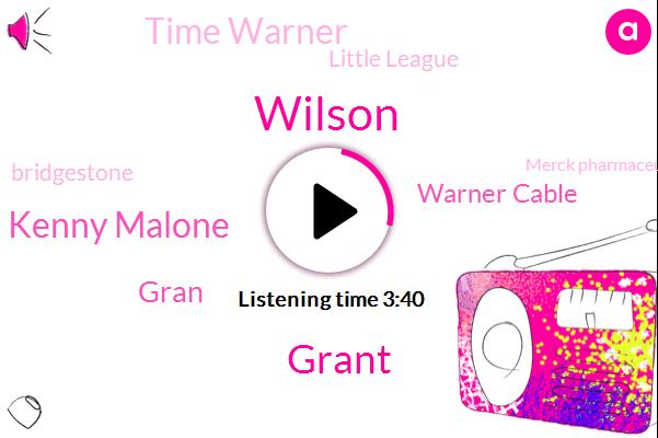 Warner Cable,Time Warner,Wilson,Wilson North Carolina,Grant,Little League,Partner,Kenny Malone,Nickelback,Bridgestone,Gran,Merck Pharmaceuticals