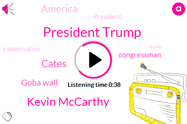President Trump,Kevin Mccarthy,Goba Wall,Congressman,Cates,America