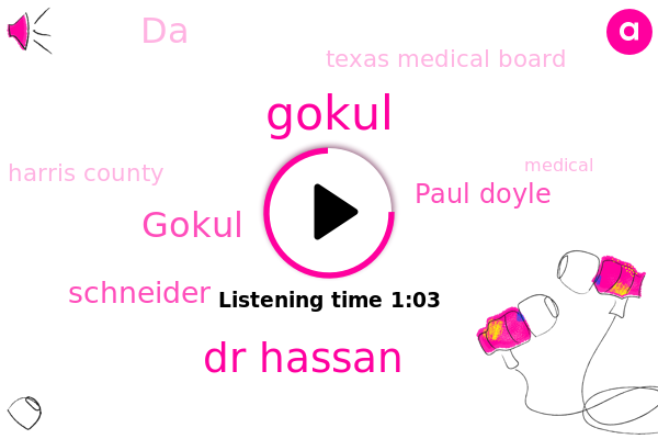 Gokul,Dr Hassan,Harris County,Texas Medical Board,Schneider,Paul Doyle,DA,Houston