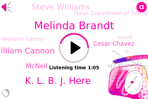 Melinda Brandt,K. L. B. J. Here,William Cannon,Austin,Mcneil,Cesar Chavez,Texas Department Of Transportation,Weather Center,Steve Williams,Wizards