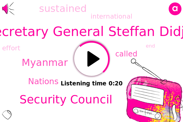 Myanmar,U. N Secretary General Steffan Didja Reek,BBC,Security Council