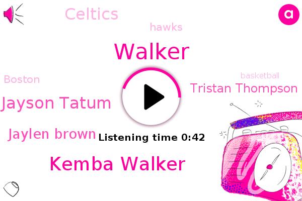 Celtics,Kemba Walker,Hawks,Jayson Tatum,Basketball,Jaylen Brown,Walker,Tristan Thompson,Boston