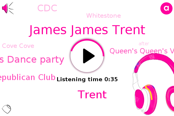 Christmas Dance Party,Queens Republican Club,Whitestone,Queen's Queen's Village Village Republican Republican Club,James James Trent,Cove Cove,Trent,CDC