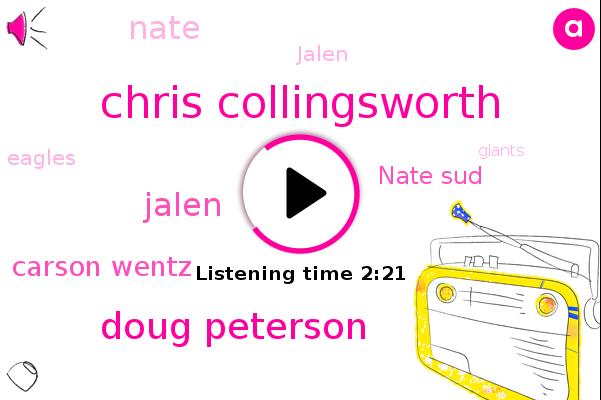 Chris Collingsworth,Washington,Eagles,Football,Giants,Doug Peterson,NFC,Jalen,Philadelphia Eagles,New York Giants,Carson Wentz,Chess,Nate Sud,Nate