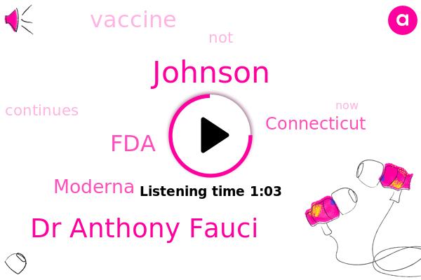 Johnson,FDA,Dr Anthony Fauci,Moderna,ABC,Connecticut