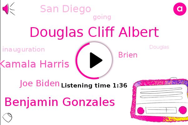Douglas Cliff Albert,Benjamin Gonzales,Vice President Elect Kamala Harris,Joe Biden,Brien,San Diego