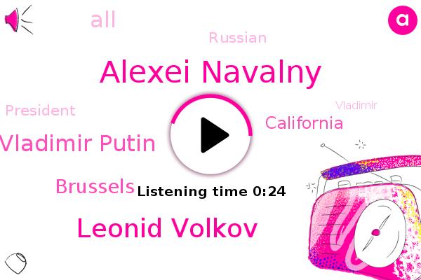 Alexei Navalny,Leonid Volkov,Vladimir Putin,Brussels,California