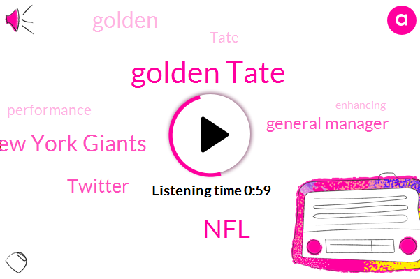 Golden Tate,New York Giants,NFL,General Manager,Twitter,Four Weeks