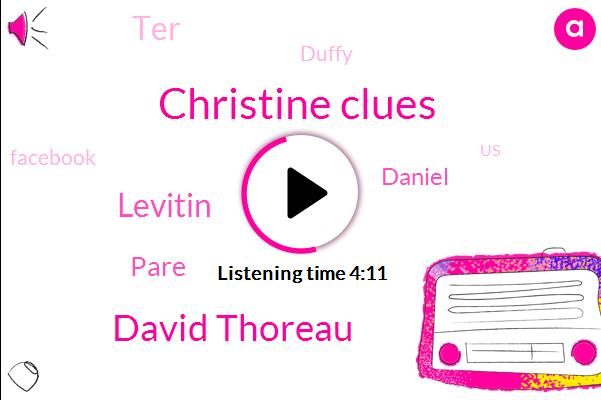 Christine Clues,David Thoreau,Facebook,United States,Levitin,Pare,Daniel,TER,Duffy,Executive
