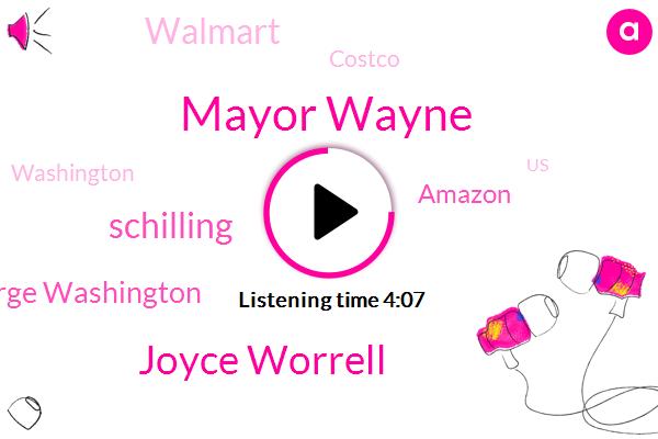 Mayor Wayne,Joyce Worrell,Schilling,Washington,George Washington,United States,Depression,Amazon,Italy Brazil,Walmart,Mexico,Austria,Costco