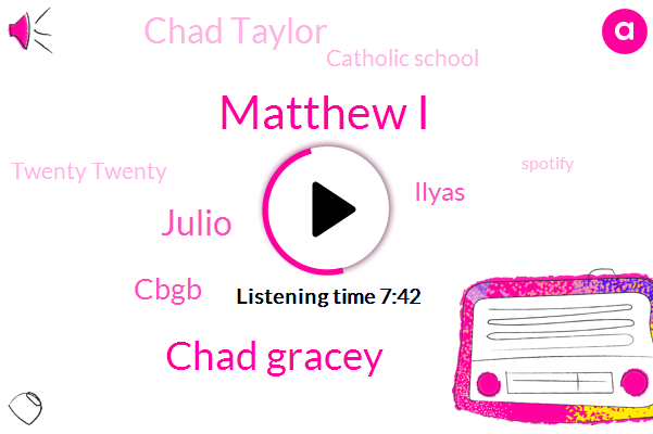 Matthew I,Catholic School,Twenty Twenty,Chad Gracey,Spotify,Europe,Catholic Church,York,Scotland,Kentucky,Julio,New York,Cbgb,MTV,Pennsylvania,Ilyas,Chad Taylor