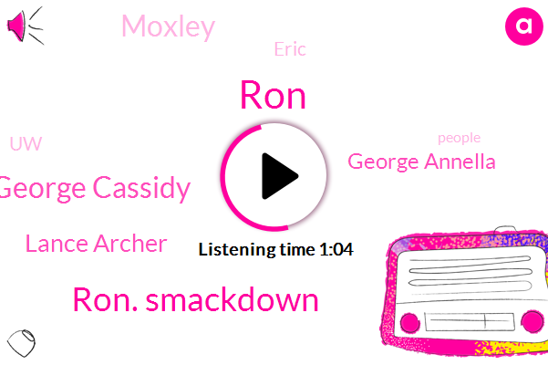 Ron. Smackdown,RON,George Cassidy,Lance Archer,UW,George Annella,Moxley,Eric