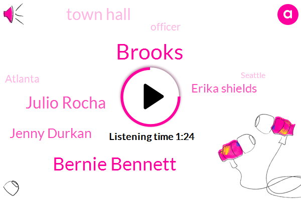 Brooks,Bernie Bennett,Officer,Julio Rocha,Seattle,Jenny Durkan,New Orleans,Mississippi River,Atlanta,Erika Shields,Writer,Town Hall