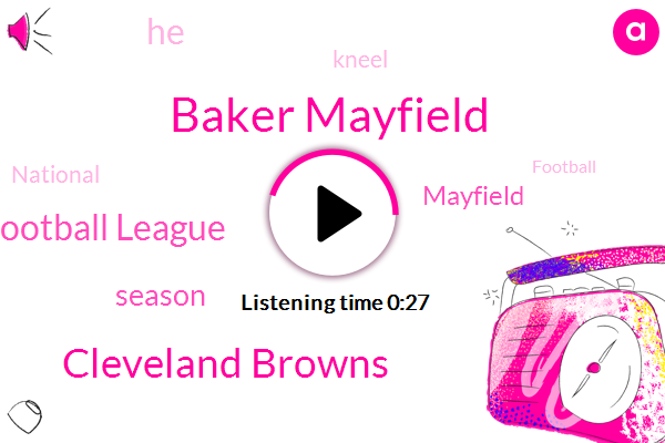 Cleveland Browns,National Football League,Baker Mayfield