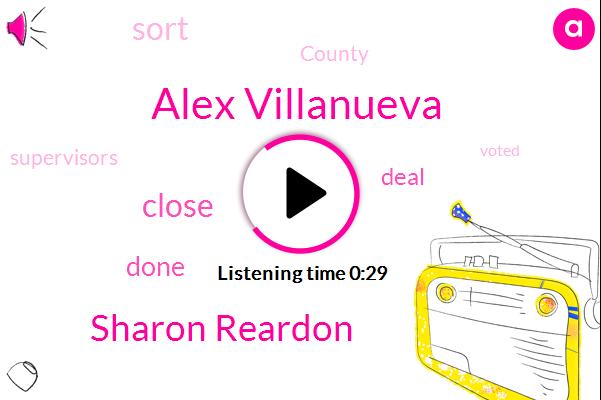 Alex Villanueva,Sharon Reardon,ABC