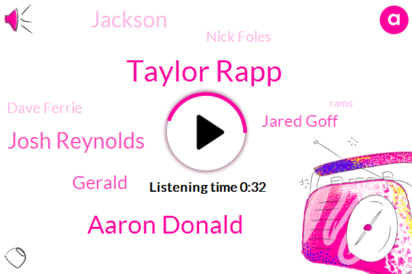 Taylor Rapp,Aaron Donald,Chicago,Josh Reynolds,Gerald,Jared Goff,Jackson,Nick Foles,Dave Ferrie,Rams