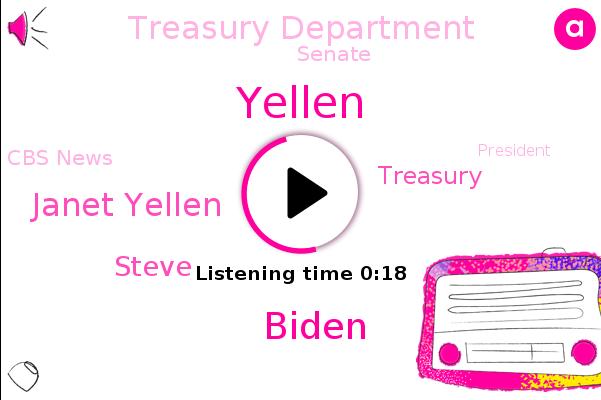 Janet Yellen,Biden,Treasury Department,Yellen,Treasury,Senate,Cbs News,Steve