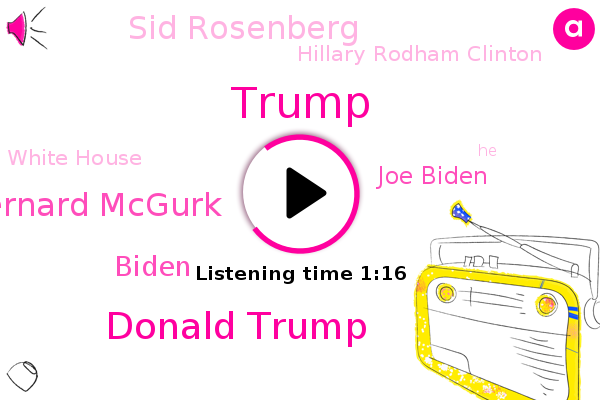 Donald Trump,Bernard Mcgurk,Biden,White House,Joe Biden,Sid Rosenberg,Hillary Rodham Clinton