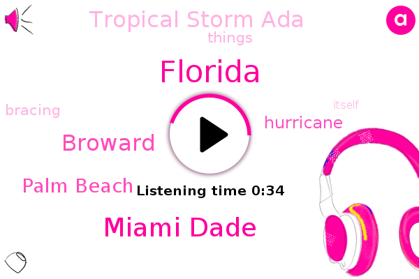 Tropical Storm Ada,Florida,Hurricane,Miami Dade,Broward,Palm Beach