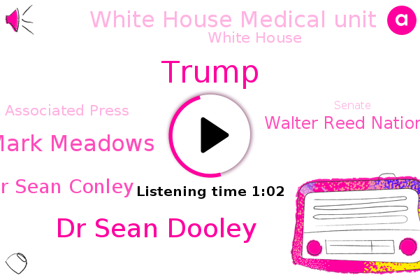 President Trump,Walter Reed National Military Medical Center,White House Medical Unit,White House,Donald Trump,Dr Sean Dooley,Mark Meadows,Dr Sean Conley,Associated Press,Mild Cough,Senate,Chief Of Staff