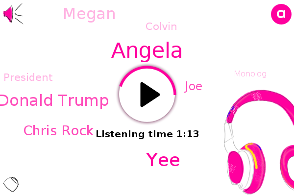 Donald Trump,Chris Rock,Saturday Night Live,Angela,JOE,YEE,President Trump,Megan,Colvin,Monolog